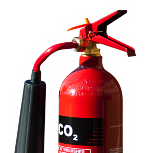 The gas extinguisher (CO2)