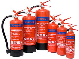 The powder extinguisher